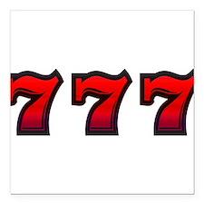 """777 Square Car Magnet 3"""" x 3"""""""