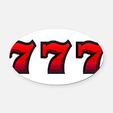 777 Oval Car Magnet