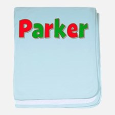 Parker Christmas baby blanket