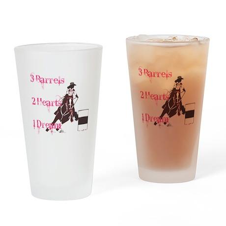 3 Barrels, 2 Hearts, 1 Dream Drinking Glass
