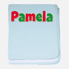 Pamela Christmas baby blanket