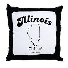 ILLINOIS: Oh bois Throw Pillow