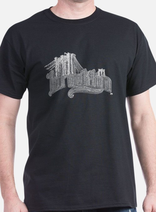 Brooklyn Men's tee, organic (dark) T-Shirt