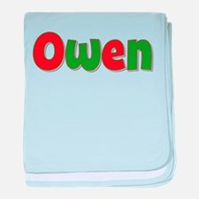 Owen Christmas baby blanket
