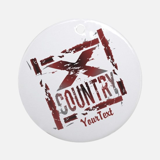 Customize XC Cross Country Round Ornament