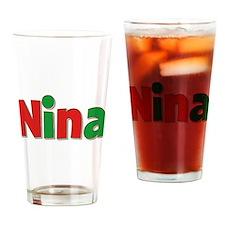 Nina Christmas Drinking Glass