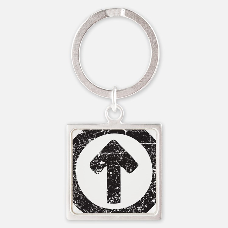 Above Influence Square Keychain