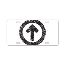 Above Influence Aluminum License Plate