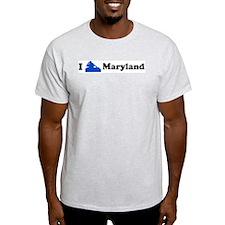 I DJ Maryland Ash Grey T-Shirt