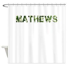 Mathews, Vintage Camo, Shower Curtain