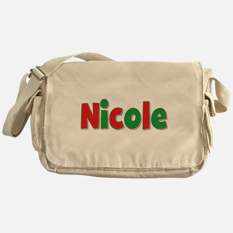 Nicole Christmas Messenger Bag