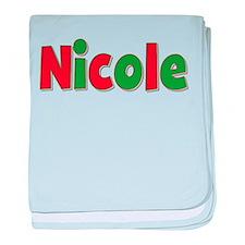 Nicole Christmas baby blanket