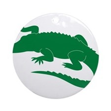 Aligator Ornament (Round)