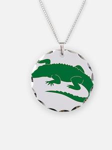 Aligator Necklace Circle Charm