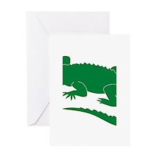 Aligator Greeting Card