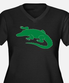 Aligator Women's Plus Size V-Neck Dark T-Shirt