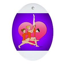 Cute Sports gymnastics Ornament (Oval)
