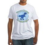 T-Rex Hates Push-ups Fitted T-Shirt