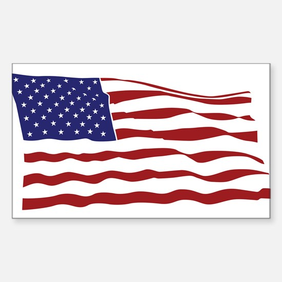 USA Flag Sticker (Rectangle)