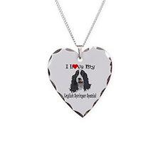 I Love Springer Necklace Heart Charm