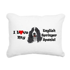 I Love Springer Rectangular Canvas Pillow