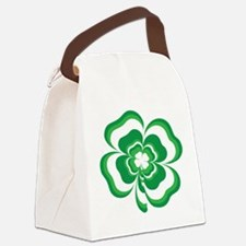 Stacked Shamrock Canvas Lunch Bag