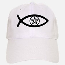 Wiccan Fish Symbol Baseball Baseball Cap