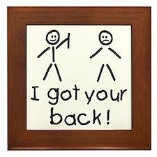 I Got Your Back Silly Framed Tile