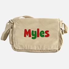 Myles Christmas Messenger Bag