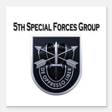 "5th Special Forces Group Square Car Magnet 3"" x 3"""