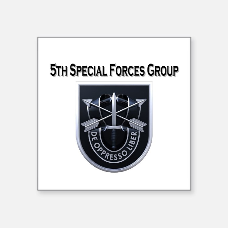 """5th Special Forces Group Square Sticker 3"""" x 3"""""""