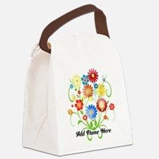 Personalized floral light Canvas Lunch Bag