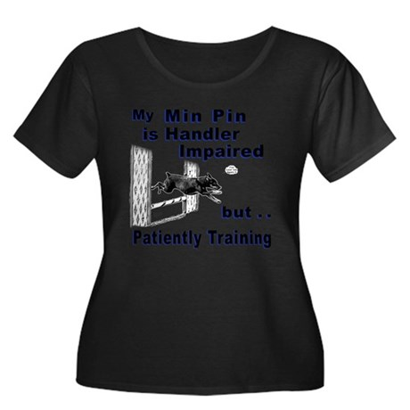 Min Pin Agility Plus Size T-Shirt