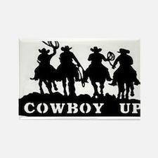 Cowboy Up Rectangle Magnet