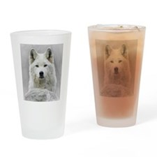 White Wolf Drinking Glass
