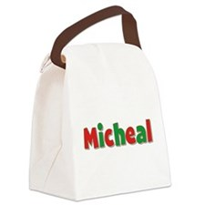 Micheal Christmas Canvas Lunch Bag