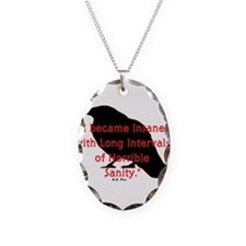 Cute Quote Necklace Oval Charm