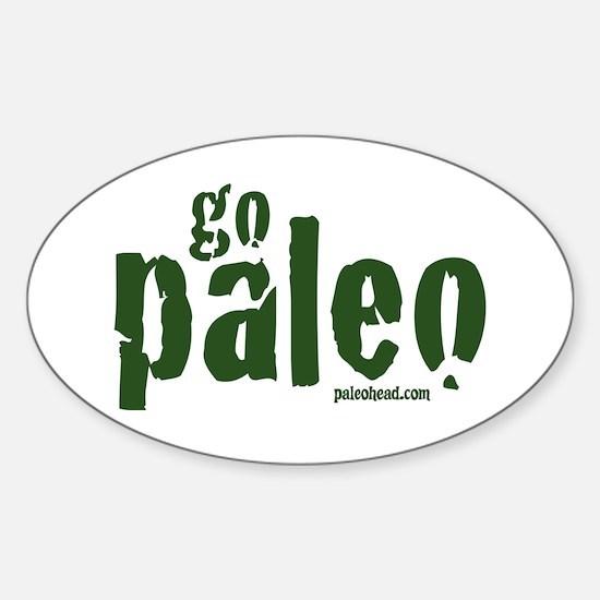 Go Paleo Sticker (Oval)