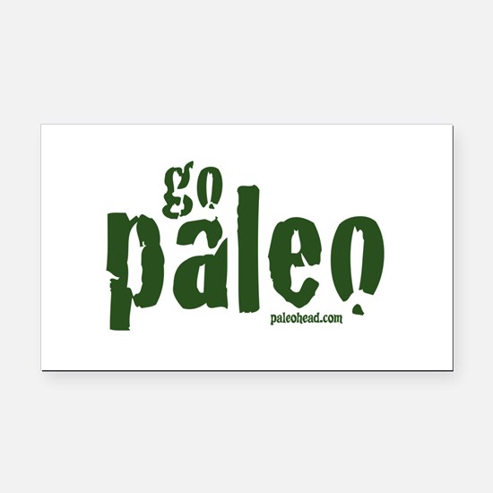 Go Paleo Rectangle Car Magnet