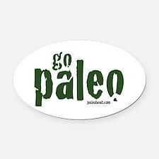 Go Paleo Oval Car Magnet