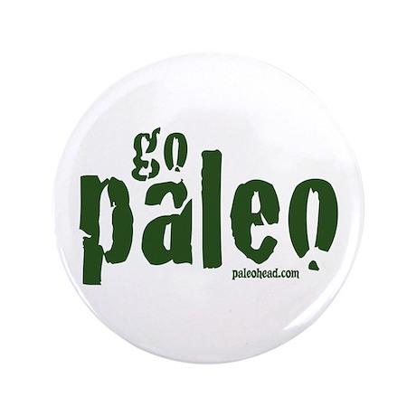 "Go Paleo 3.5"" Button (100 pack)"