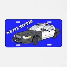 Police Fix Stupid Aluminum License Plate