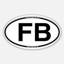 FB_white_oval.png Sticker (Oval)