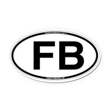 FB_white_oval.png Oval Car Magnet