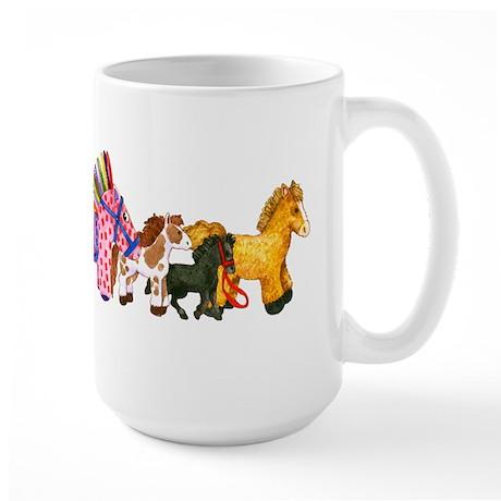 Toy Horses Large Mug