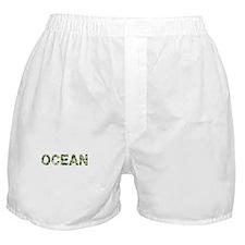 Ocean, Vintage Camo, Boxer Shorts