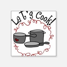 """Let's Cook Square Sticker 3"""" x 3"""""""