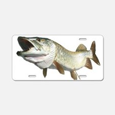 Toothy Musky Aluminum License Plate