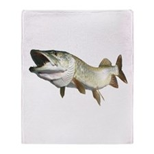 Toothy Musky Throw Blanket
