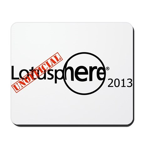 Unofficial Lotusphere 2013 with stamp Mousepad
